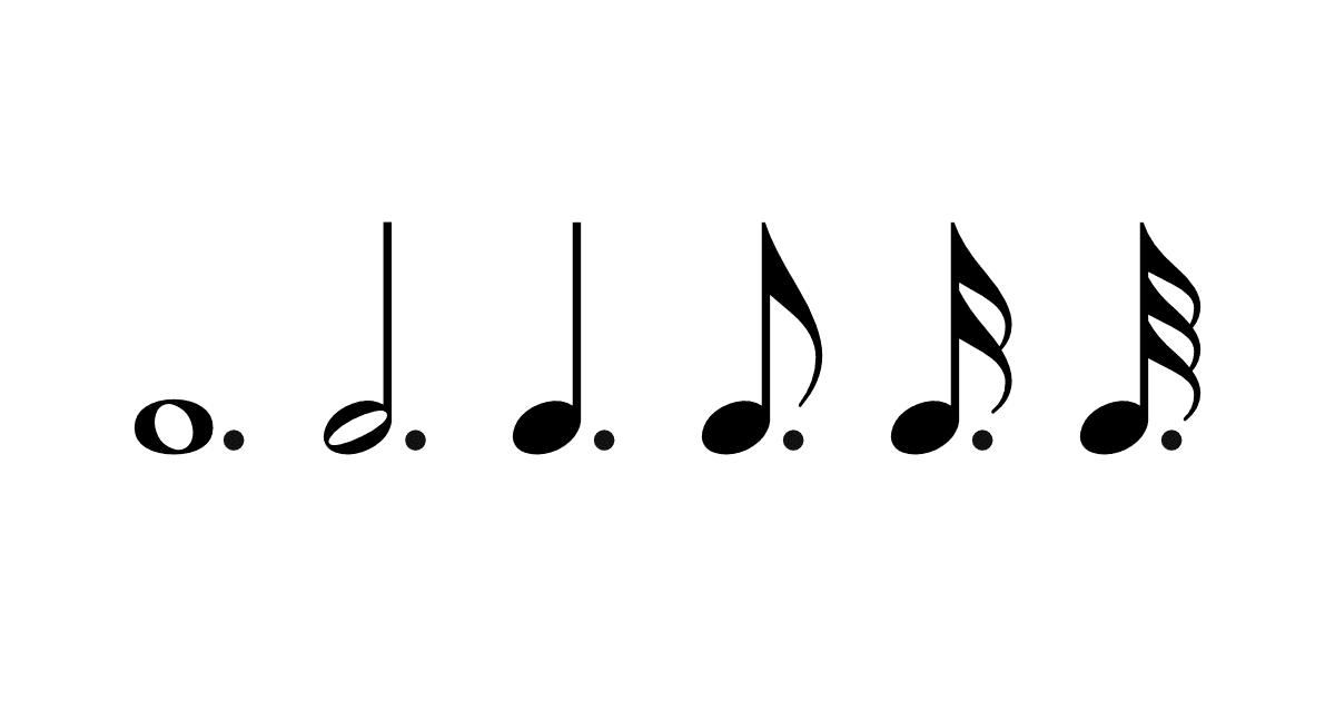 音符の種類-付点音符の画像