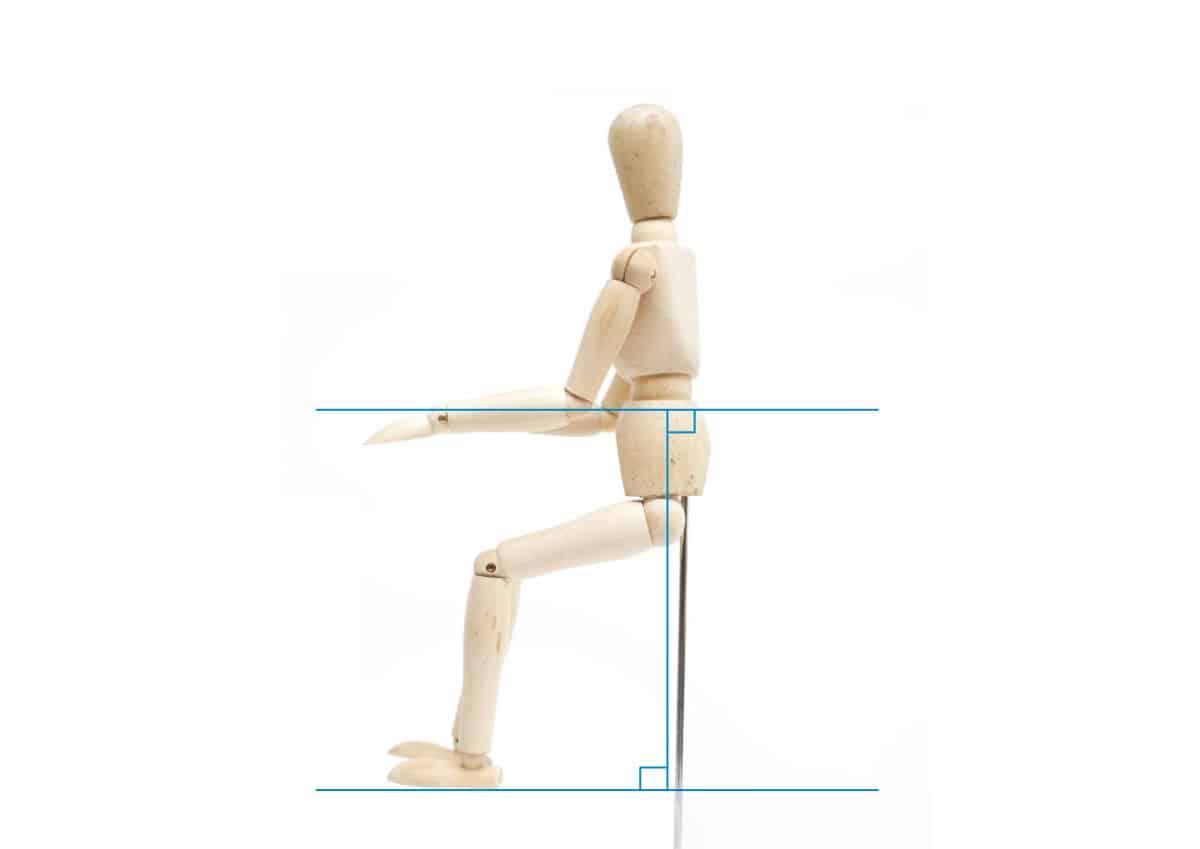 ピアノの姿勢-肘から先の腕を水平の画像