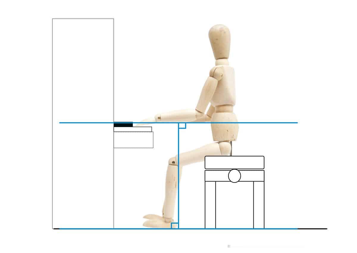 ピアノを弾く姿勢-腕を床と水平にする-1