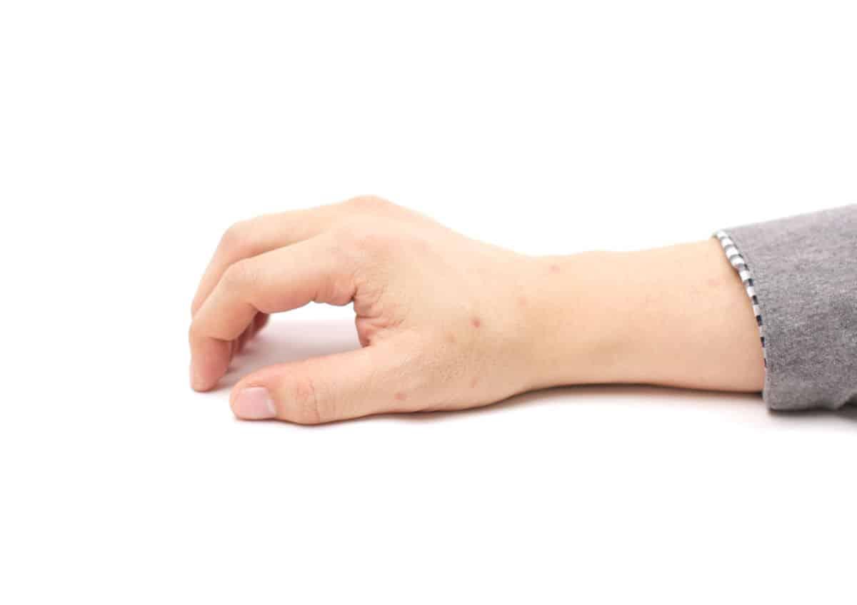 卵を持つような手の形