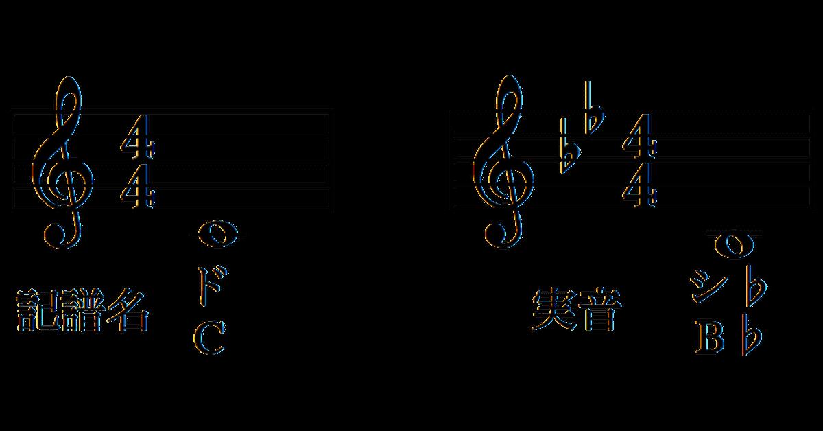 トランペットの記譜音と実音